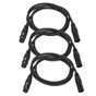 3-Pack of Monoprice 601602 1.5 Meter (5ft) 3-pin DMX Lighting & AES/EBU Cables