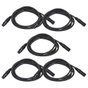5-Pack of Monoprice 601603 3 Meter (10ft) 3-pin DMX Lighting & AES/EBU Cables