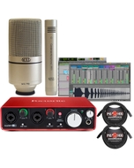 Focusrite Scarlett 2i2 (2nd Gen) Interface with Pro Tools First, MXL 990/991 Mics, and Cables