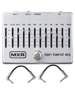 MXR M108S 10-Band Graphic EQ Guitar Effects Pedal with Patch Cables