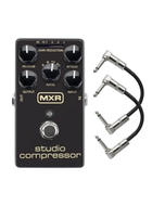 MXR M76 Studio Compressor Guitar Effects Pedal with Patch Cables