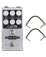 Origin Effects 76-CD Cali76 Compact Deluxe Compressor Guitar Effects Pedal with Patch Cables