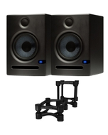Presonus Eris 5 Active Studio Monitor Pair with IsoAcoustics ISO-130 Isolation Stands