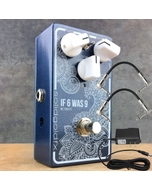 SolidGoldFX If 6 Was 9 Silicon Fuzz Guitar Effects Pedal with Power Supply and Patch Cables - Shadowed Blue Metallic