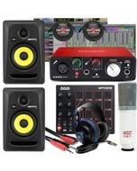 Focusrite Scarlett Solo 2ND Gen Interface + Akai Professional MPD218 + Presonus Headphones Studio Bundle