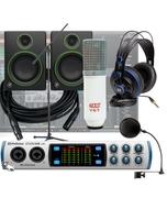PreSonus Studio 68 -24 Bit 192 kHz, Audio/MIDI Interface + Mackie CR4 Monitors Recording Bundle