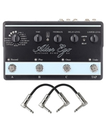 TC Electronic Alter Ego X4 Vintage Delay and Looper Guitar Effects Pedal with Patch Cables