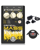 TC Helicon Critical Mass Vocal Effects Pedal with XLR Cable and 9V Power Supply