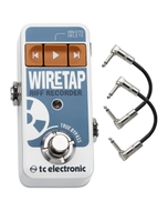 TC Electronic WireTap Riff Recorder Guitar Effects Pedal with Patch Cables