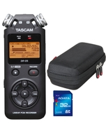 Tascam DR-05 Version 2 - Handheld PCM Portable Digital Recorder with Carry Case and 32GB Memory Card