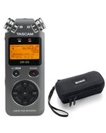 Tascam DR-05 Version 2 - Handheld PCM Portable Digital Recorder (Grey) with Carry Case