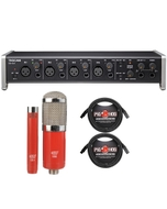 Tascam US-4X4 USB 4-in/4-out Audio/MIDI Interface with MXL Microphone Set and Cables