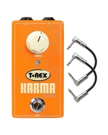 T-Rex Engineering Karma Clean Boost Guitar Effects Pedal with Patch Cables