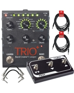 DigiTech Trio+ Plus Band Creator and Looper Guitar Effects Pedal with FS3X 3-Button Foot Switch, Cables, Power Supply
