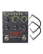 DigiTech Trio+ Plus Band Creator and Looper Guitar Effects Pedal with Patch Cables