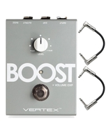 Vertex Boost Guitar Effects Pedal with Patch Cables