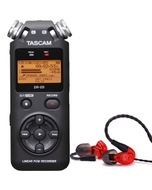 Westone UM PRO 10 Red Earphones and Tascam DR-05 Version 2 Recorder
