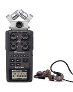 Zoom H6 Portable Handheld Recorder and Westone UM PRO 20 Earphones Smoke