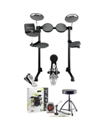 Yamaha DTX450K 5-Piece Electronic Drum Kit with Accessory Pack (Headphones, Sticks, Throne, and Pedal)