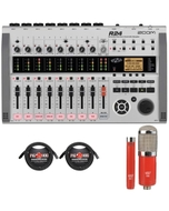 Zoom R24 Multitrack Recording Interface with MXL Microphone Set and XLR Cables