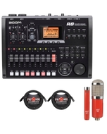 Zoom R8 Recording Interface with MXL Microphone Set and XLR Cables