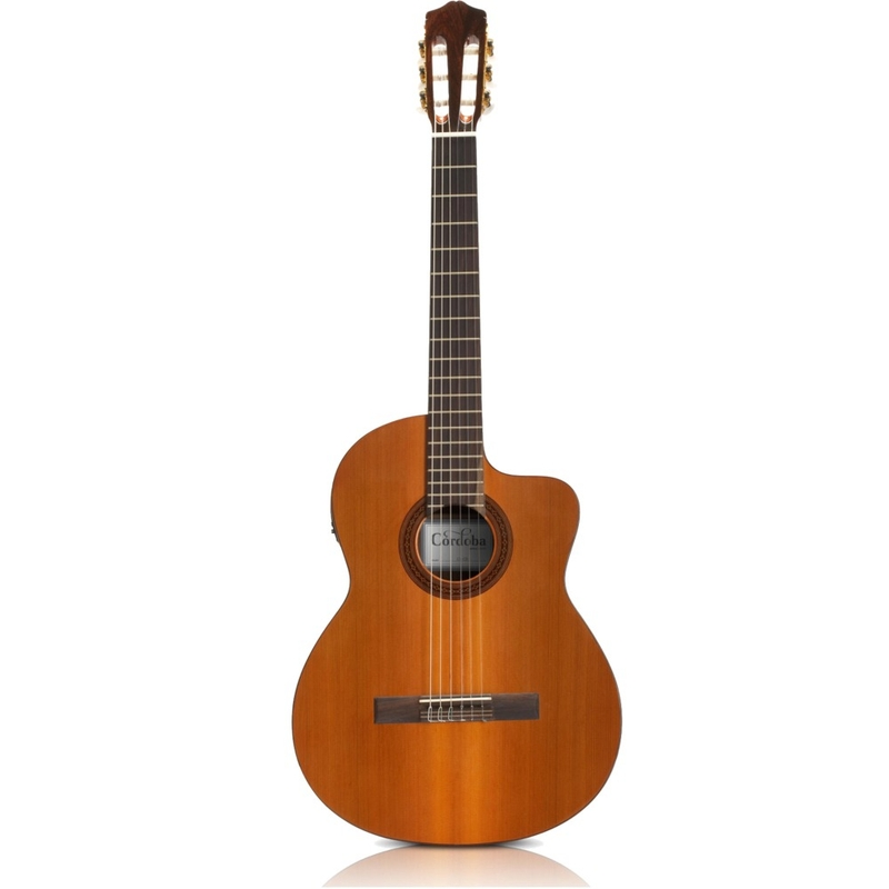 Cordoba C5-CE Cedar Top Mahogany Back and Sides Acoustic-Electric Nylon-String Classical Guitar