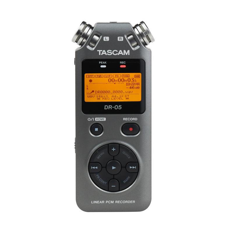 Tascam DR-05 Version 2 - Handheld PCM Portable Digital Recorder (Grey)