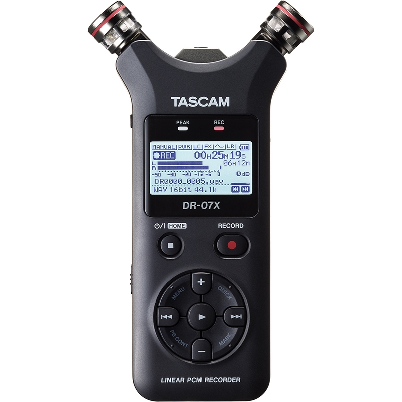 Tascam DR-07X Stereo Handheld Digital Audio Recorder and USB Audio Interface DR07X