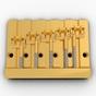 Hipshot 5K501G 5-String KickAss Bass Bridge, Classic Mount Pattern 1, Gold