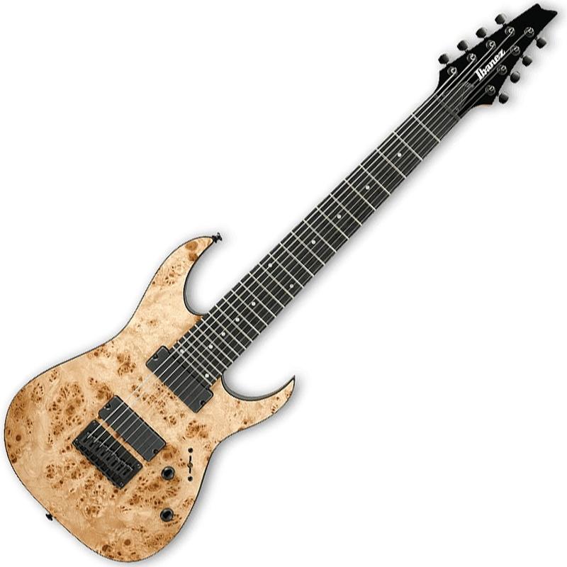 Ibanez RG8PB NTF RG Series Poplar Burl Top 8-String Electric Guitar Natural Flat Finish