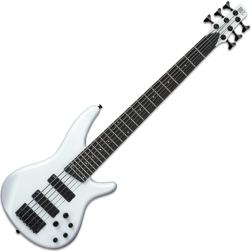 Ibanez SR256 PW SR Series Electric 6-String Bass Guitar Pearl White Finish