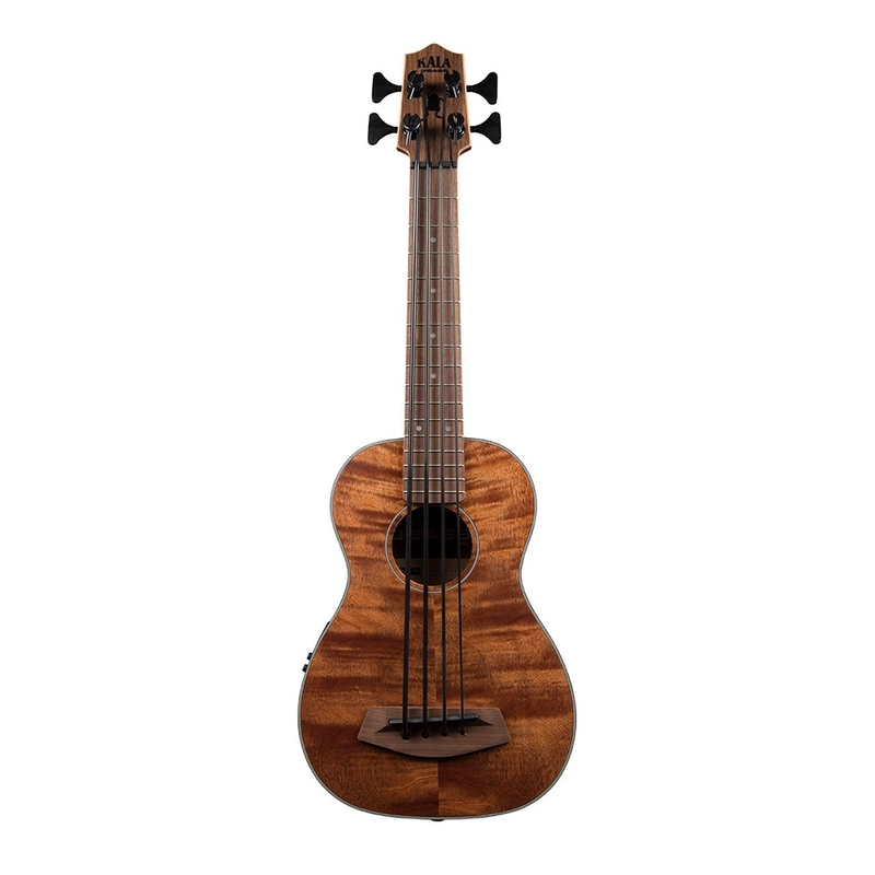 Kala Exotic Mahogany Acoustic-Electric U-Bass, Fretted with Gig Bag