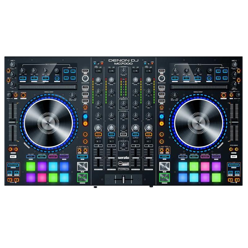 Denon MC7000 Professional Serato DJ Controller with Dual USB Interfaces