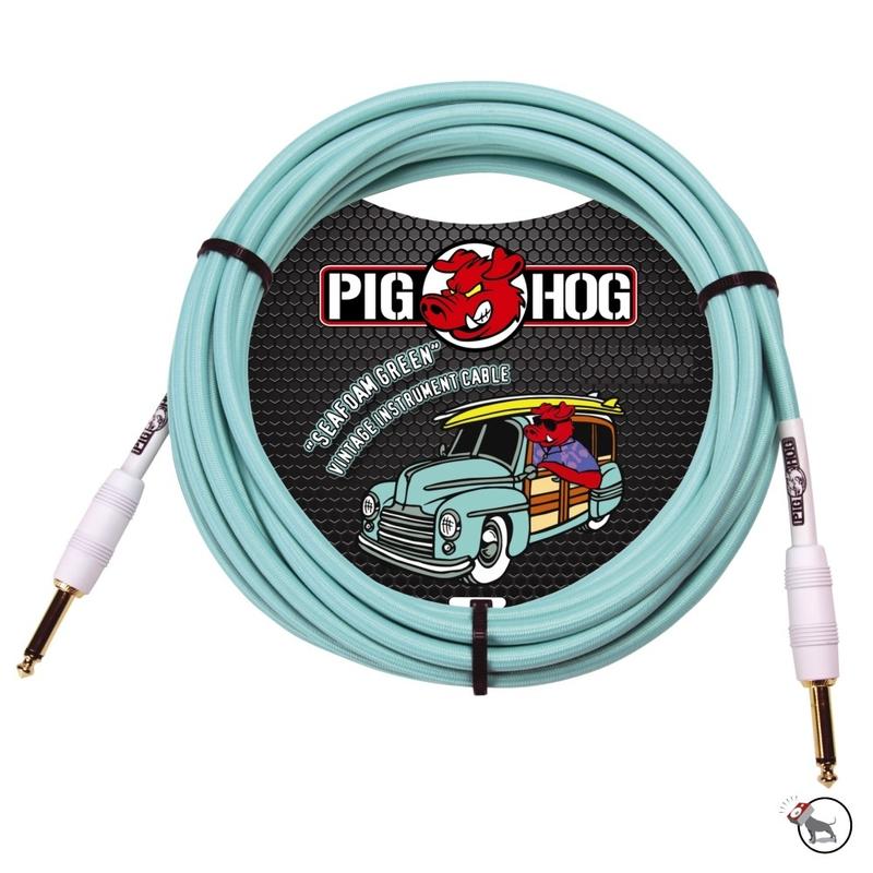 Pig Hog PCH10SG Seafoam Green Instrument Cable 10ft
