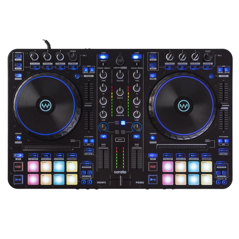 Mixars Primo 2-Channel 4 Deck Controller Mixer for Serato DJ