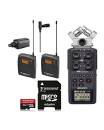 Sennheiser EW100ENG A Lavalier Wireless Mic Set + Zoom H6 Recorder + 32GB Card