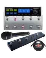 TC Helicon VoiceLive 3 Vocal/Guitar FX Multi-Looper Processor with Switch 6, MP75 Mic, & Cable