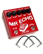 SIB Effects Mr Echo Plus 550ms FET Driven Echo/Delay Guitar Effects Pedal with Patch Cables