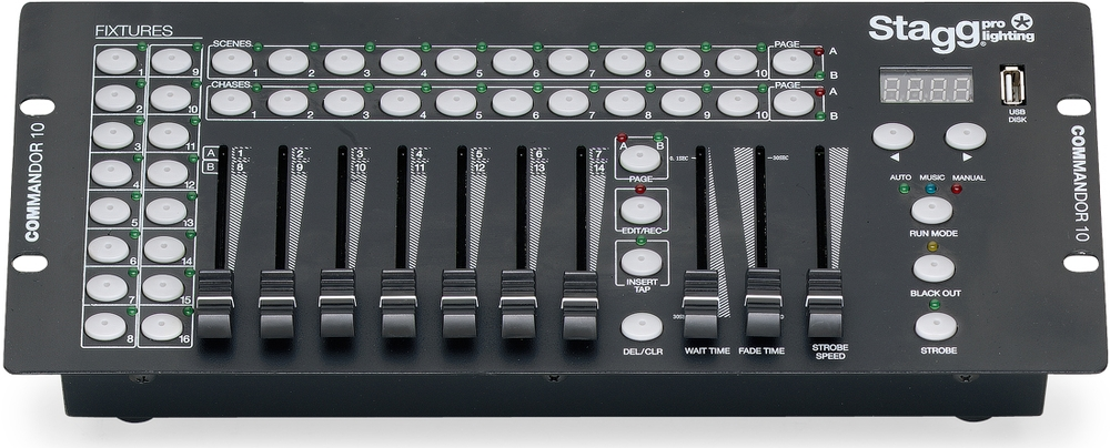 Stagg Commandor 10-2 DMX lighting controller