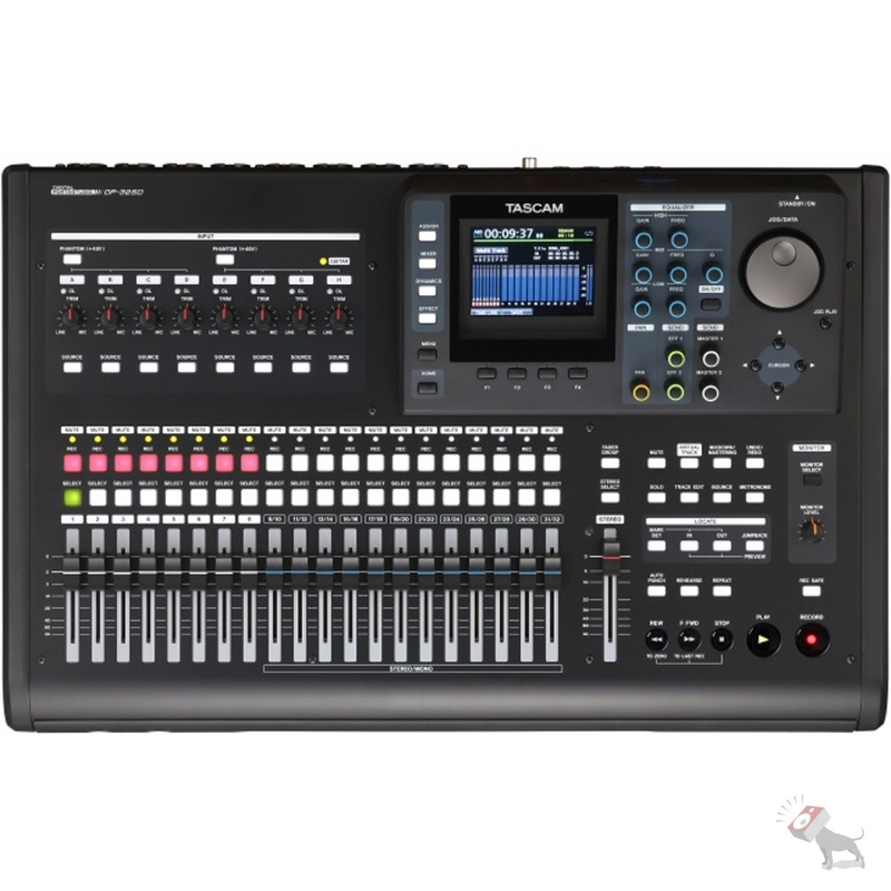 Tascam DP-32SD Digital 32-Track SD Portastudio Portable Studio Recorder