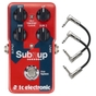 TC Electronic Sub 'N' Up Octaver Guitar Effects Pedal with Patch Cables