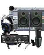 Steinberg UR12 Interface + AT-2020 Mic + Mackie CR4 Monitors Recording Studio